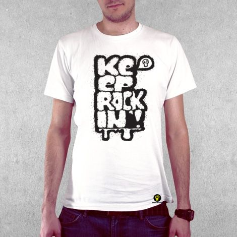 Тениска RockaCoca Rockin', бяла, размер L - 2