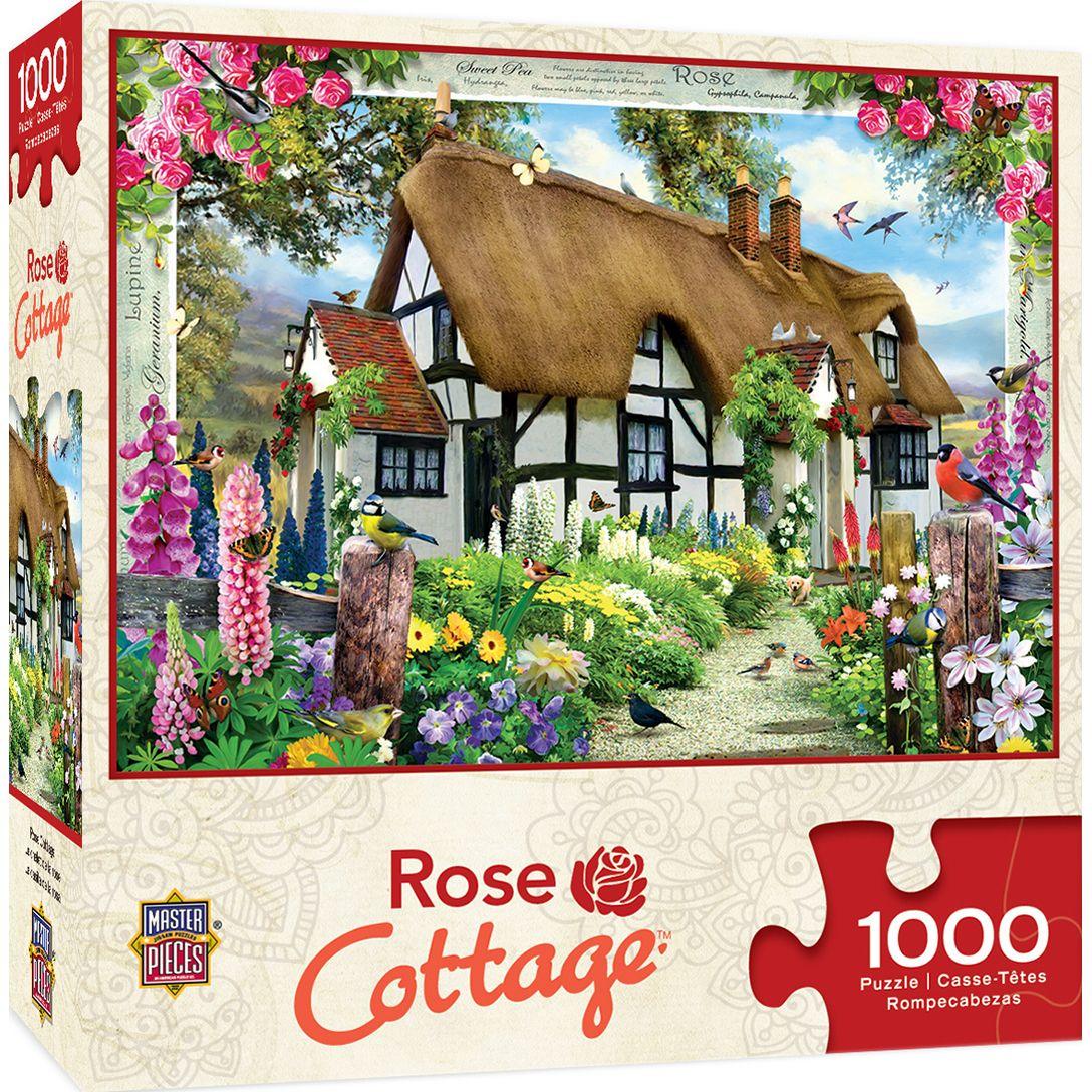 Пъзел Master Pieces от 1000 части - Розовата къщурка, Хауърд Робинсън - 1