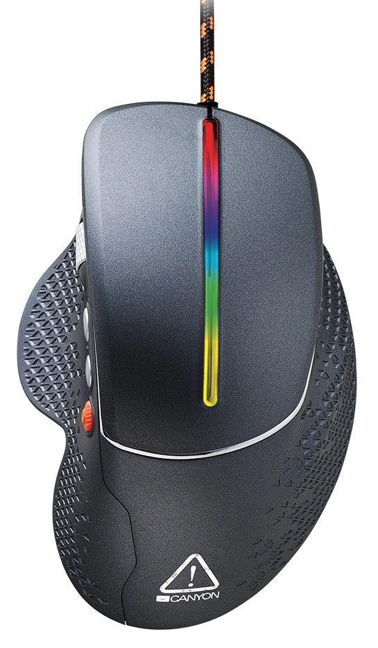 Гейминг мишка Canyon - CND-SGM12RGB, черна - 1
