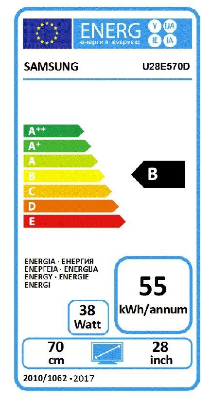 """Samsung U28E570DS, 28"""" LED, UHD 3840 x 2160, 370 cd/m2, Mega DCR - 7"""