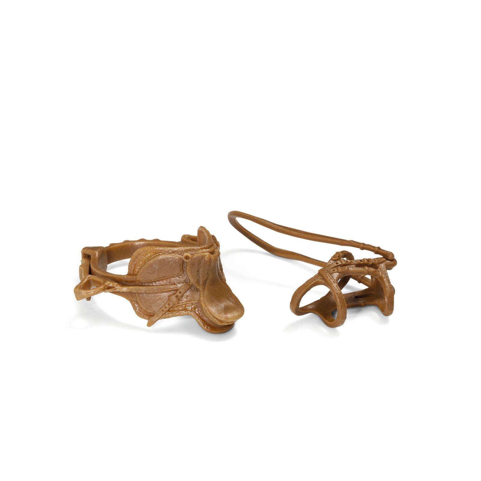 Фигурка Schleich от серията Аксесоари към Животни във фермата: Комплект седло и юзди - свободна езда - 1