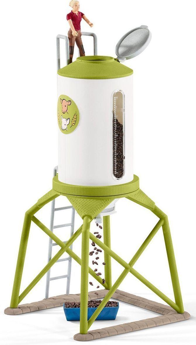 Комплект фигурки Schleich - Силоз за зърно с животни - 2