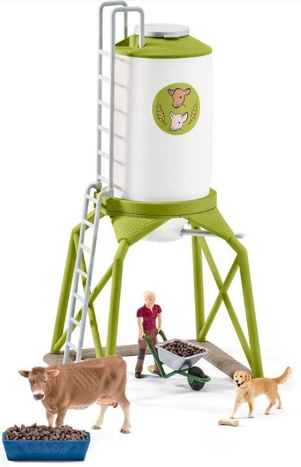 Комплект фигурки Schleich - Силоз за зърно с животни - 3