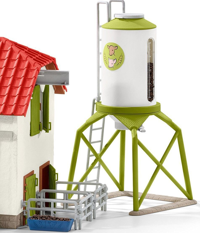Комплект фигурки Schleich - Силоз за зърно с животни - 4