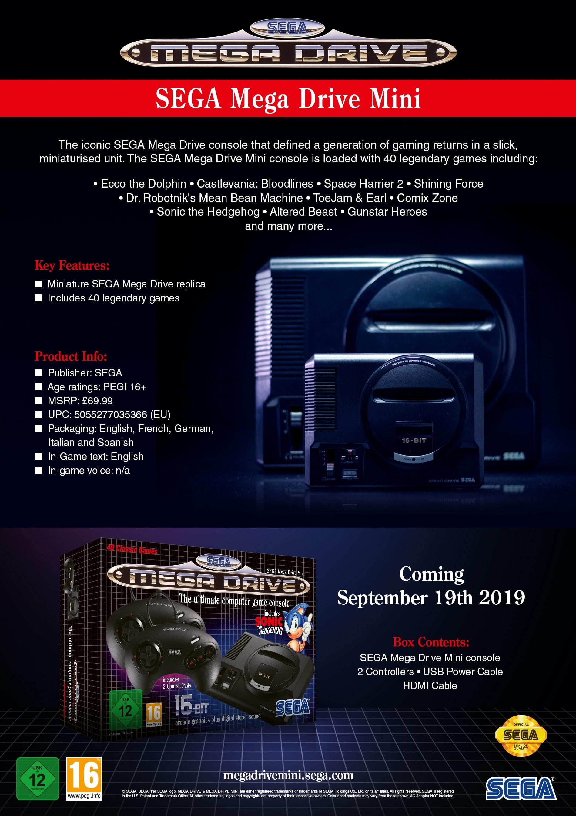 SEGA Mega Drive Mini - 3
