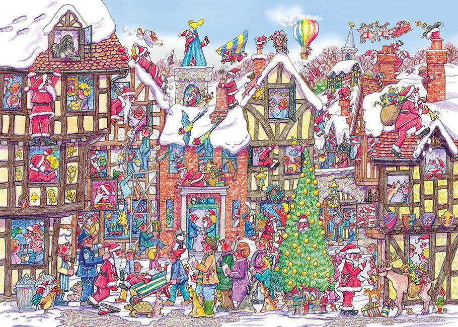 Пъзел Gibsons от 1000 части - 76 пъти Дядо Коледа, Арманд Фостър - 1