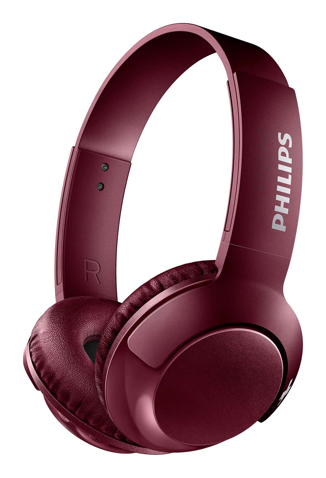 Слушалки Philips SHB3075RD - червени - 1