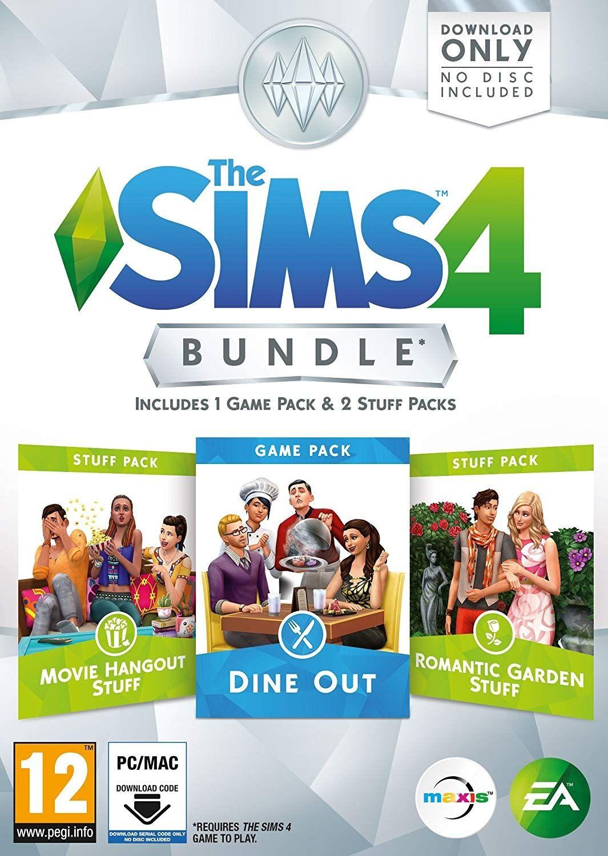 The Sims 4 Bundle Pack 5 - Dine Out, Movie Hangout Stuff, Romantic Garden Stuff (PC) - 1