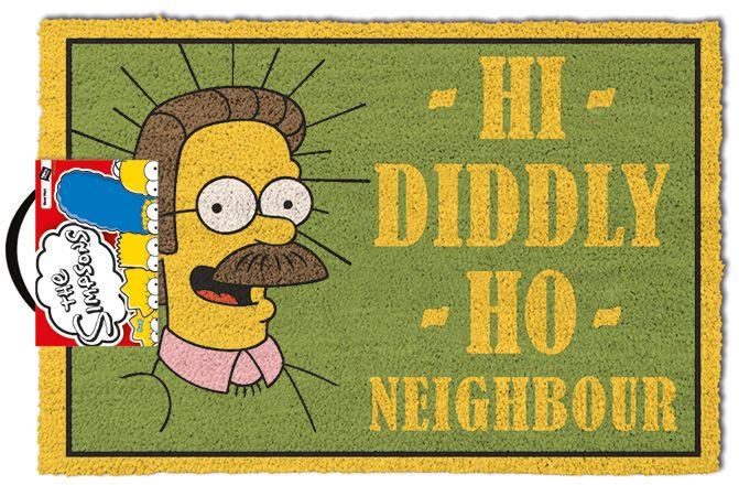 Изтривалка за врата Pyramid - The Simpsons  (Hi Diddly Ho Neighbour) , 60 x 40 cm - 1