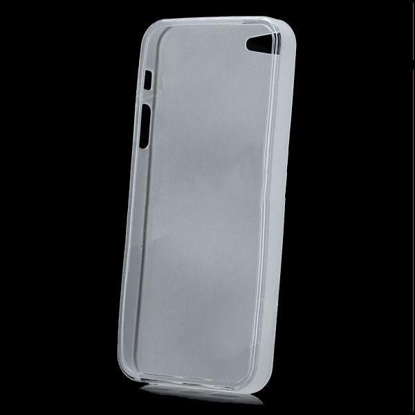 Skinny TPU Case за iPhone 5 -  прозрачен-мат - 3