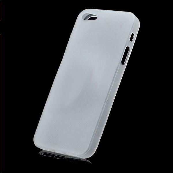Skinny TPU Case за iPhone 5 -  прозрачен-мат - 2