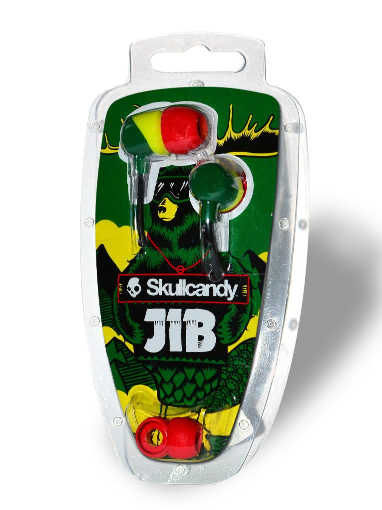 Слушалки Skullcandy  Jib  - rasta - 2