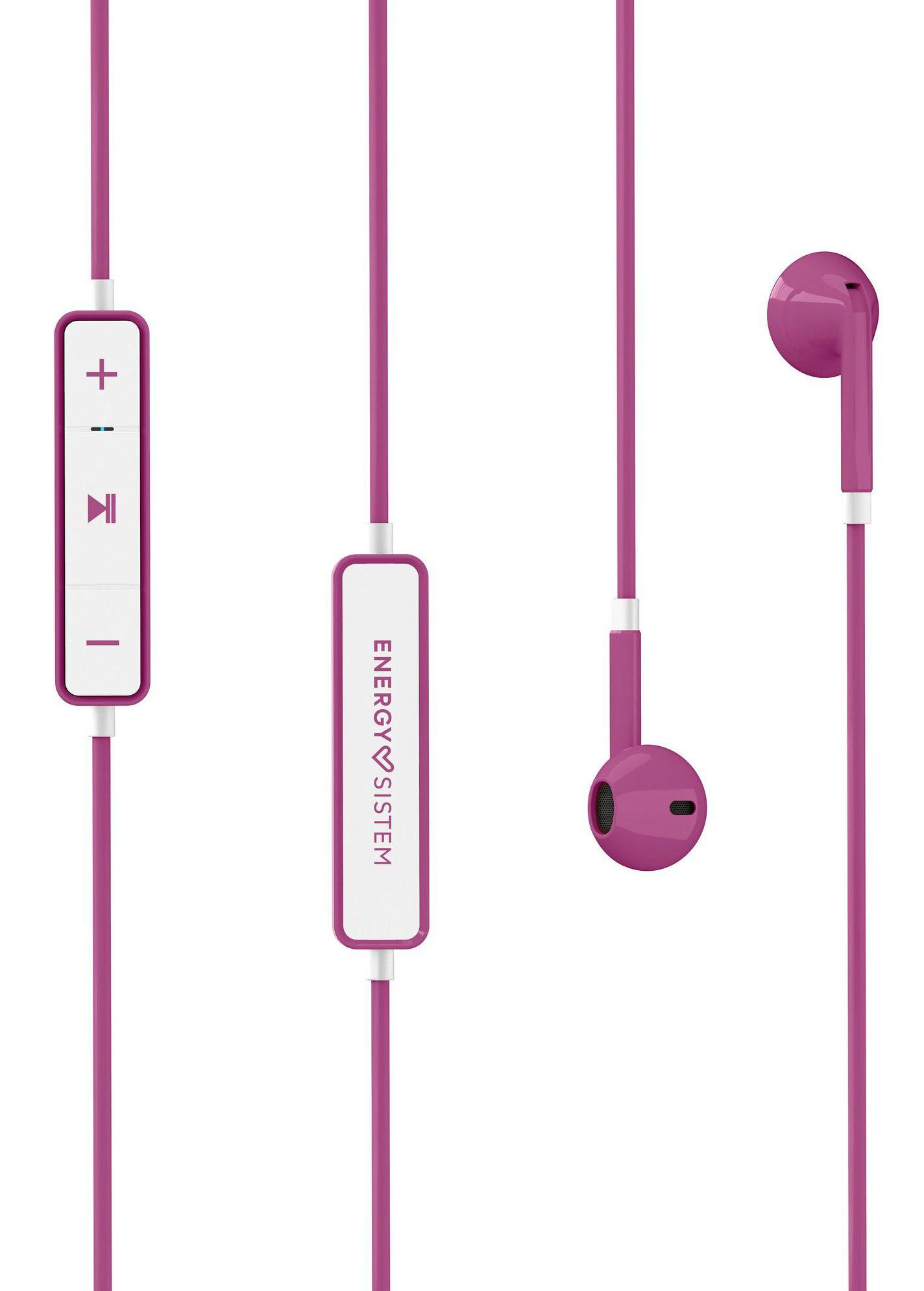 Слушалки с микрофон Energy Sistem - Earphones 1, розови - 3