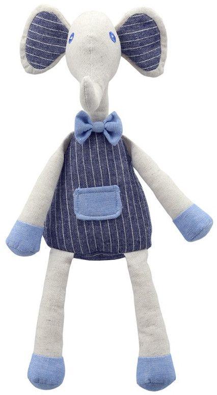 Плюшена играчка The Puppet Company Wilberry Linen - Слонче, от лен, 35 cm - 1