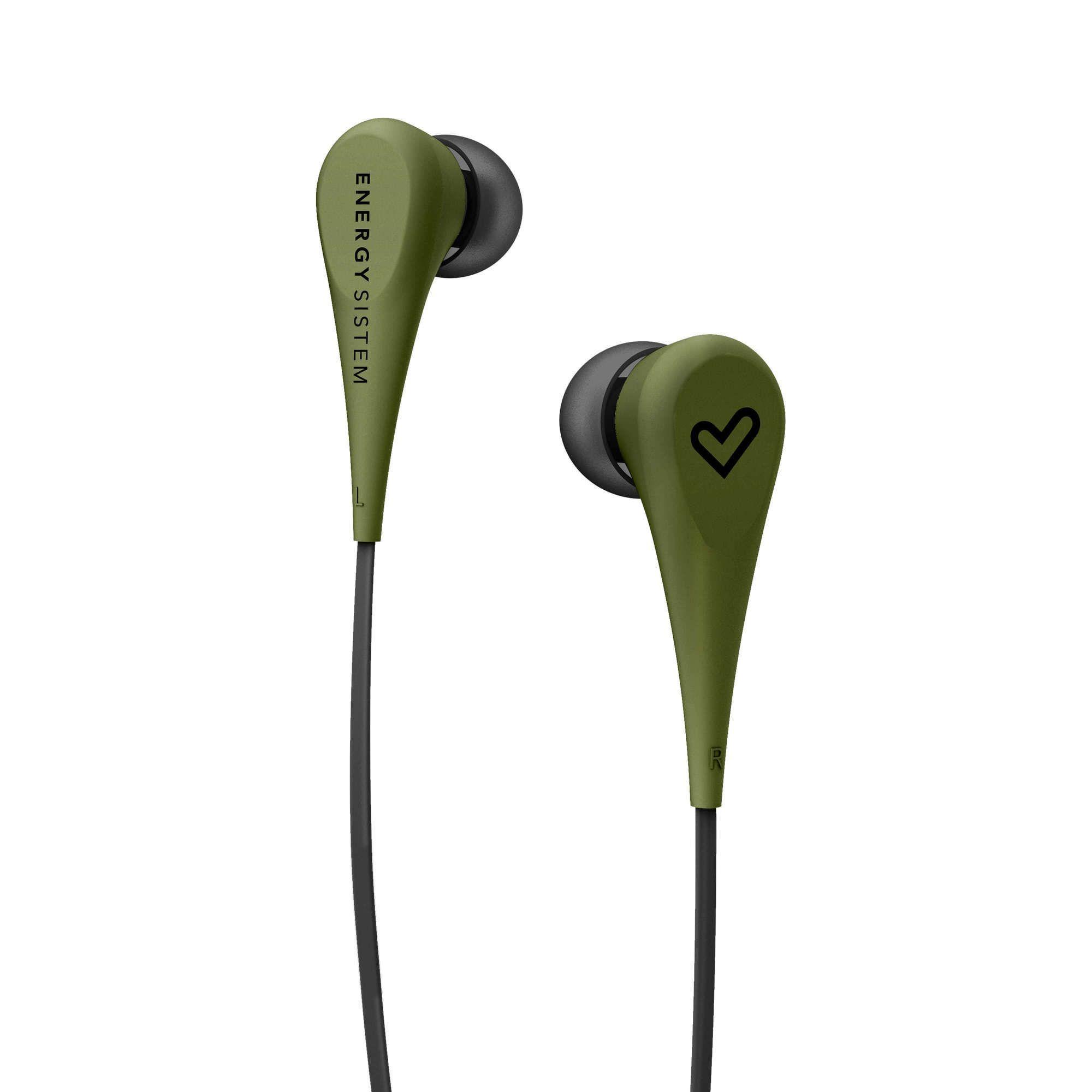 Слушалки Energy Sistem - Earphones Style 1, зелени - 3