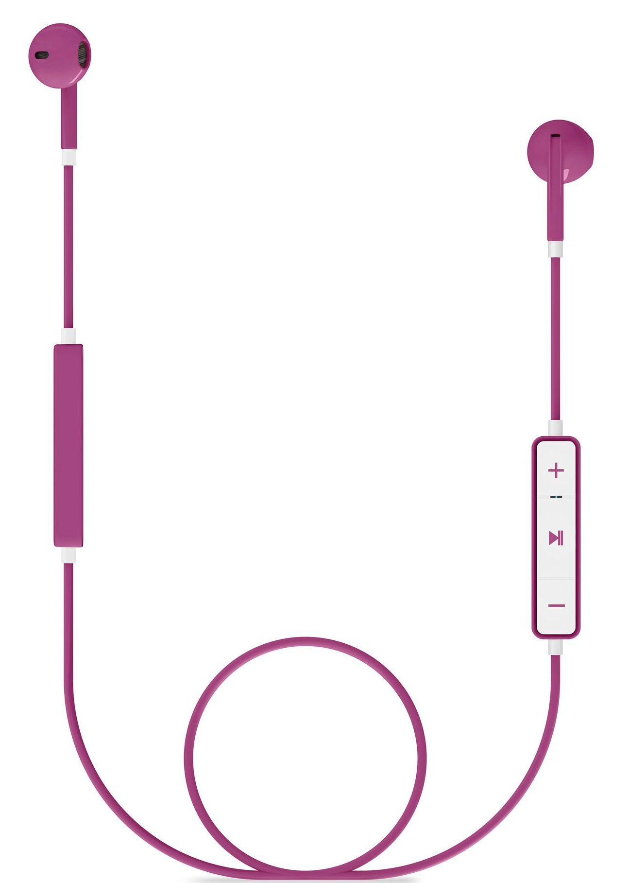 Слушалки с микрофон Energy Sistem - Earphones 1, розови - 1