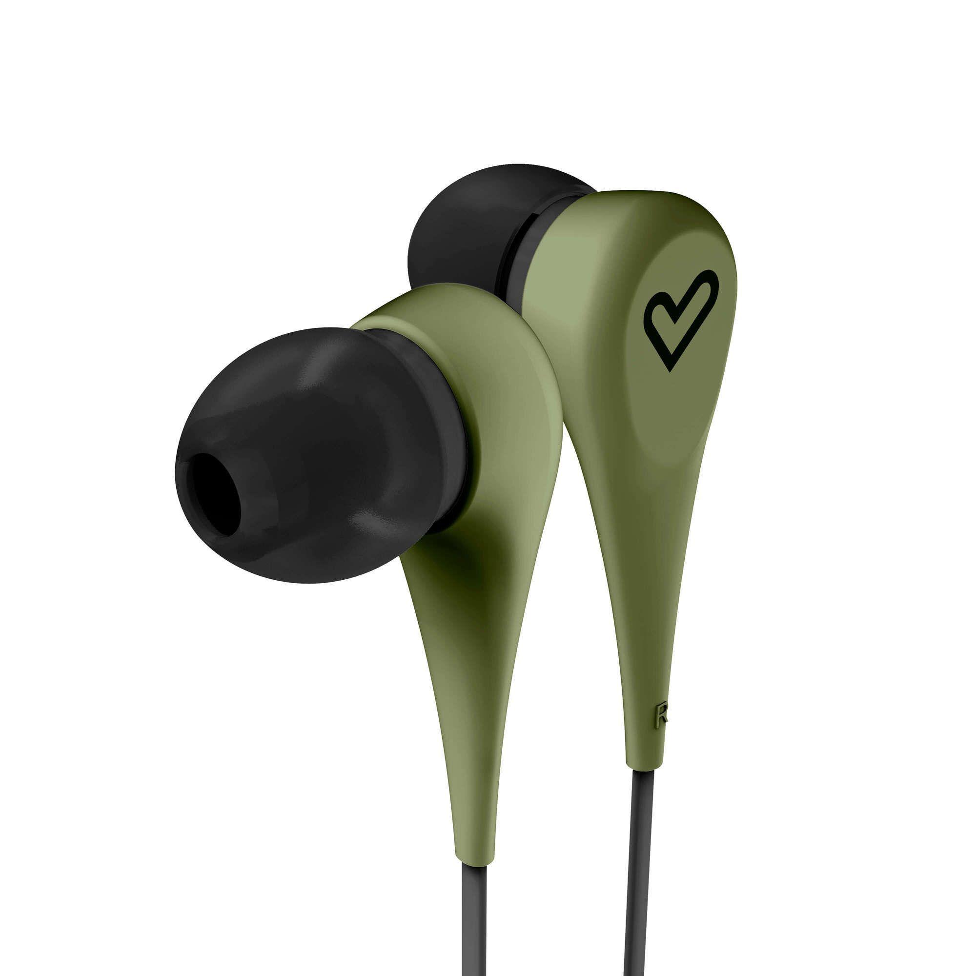 Слушалки Energy Sistem - Earphones Style 1, зелени - 1