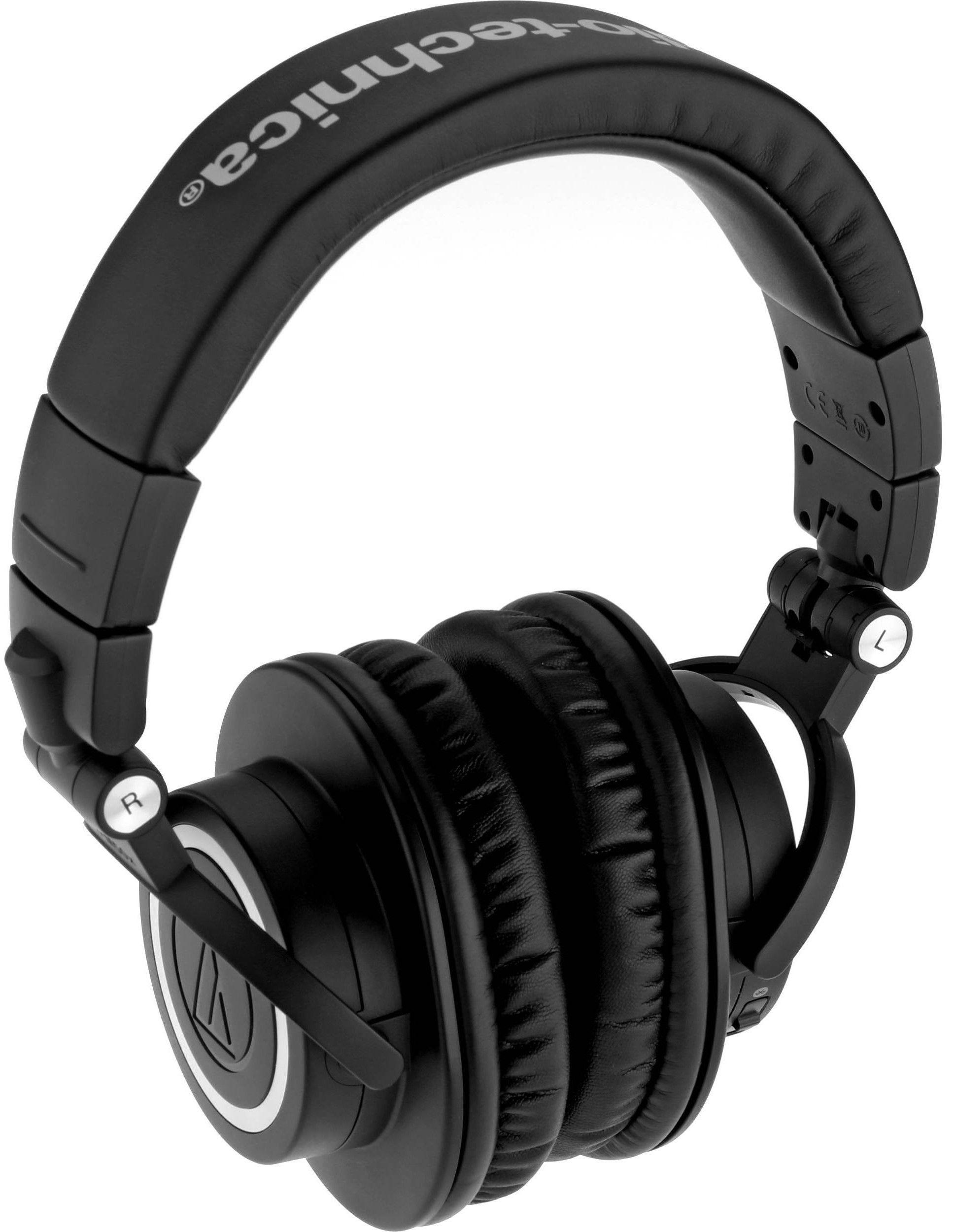 Слушалки с микрофон Audio-Technica ATH-M50xBT - черни - 3