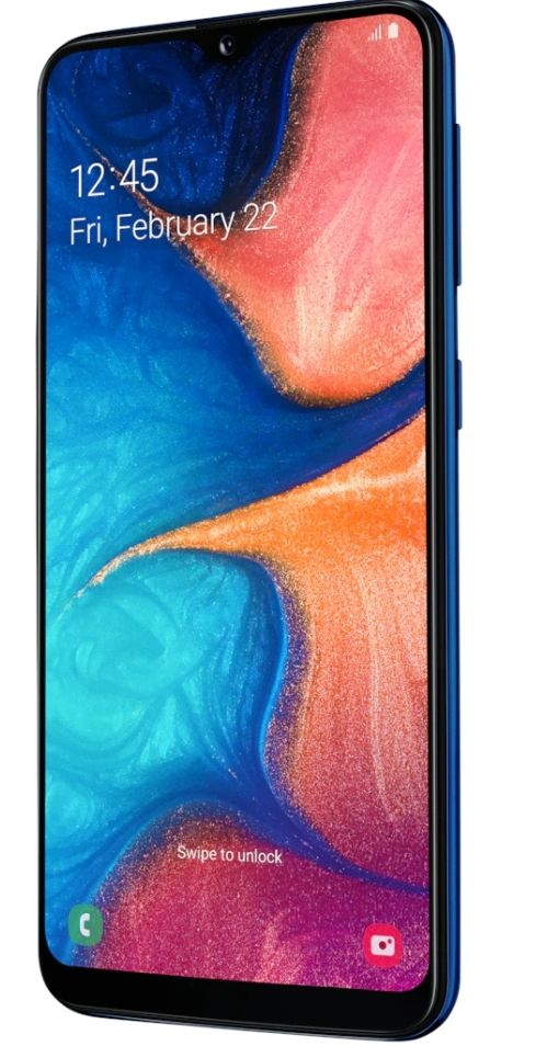 "Смартфон Samsung Galaxy A20e - 5.8"", 32GB, син - 2"