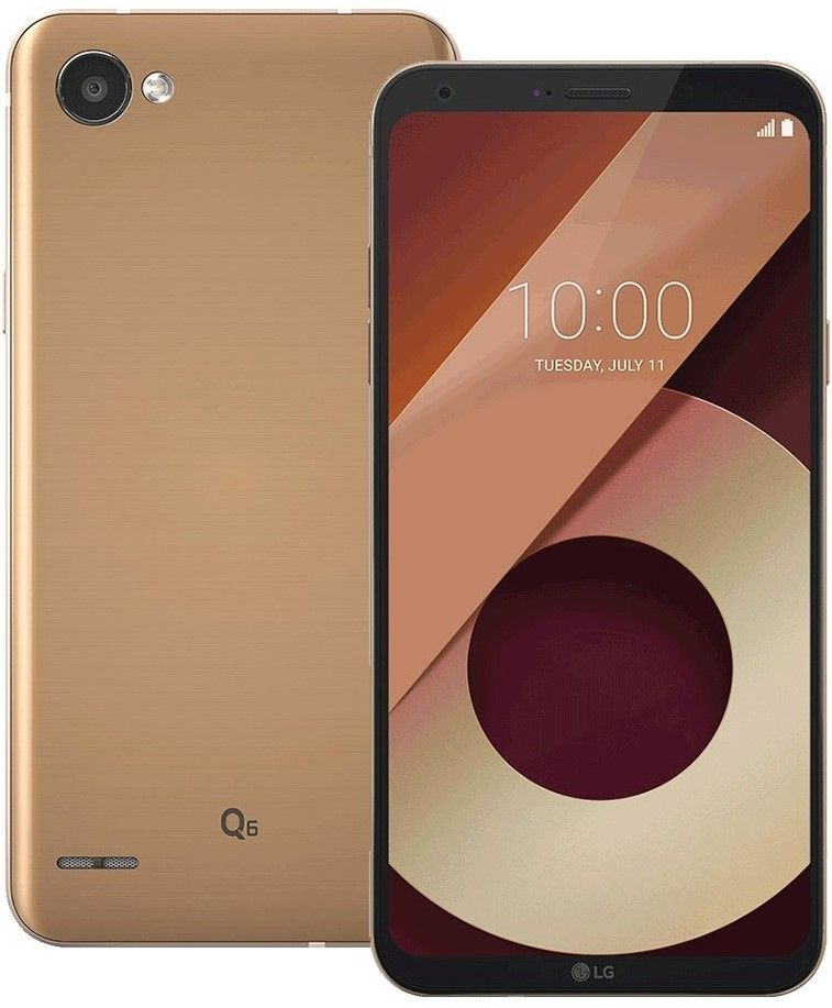 "Смартфон LG Q6  - 5.5"", 32GB, black/gold - 1"