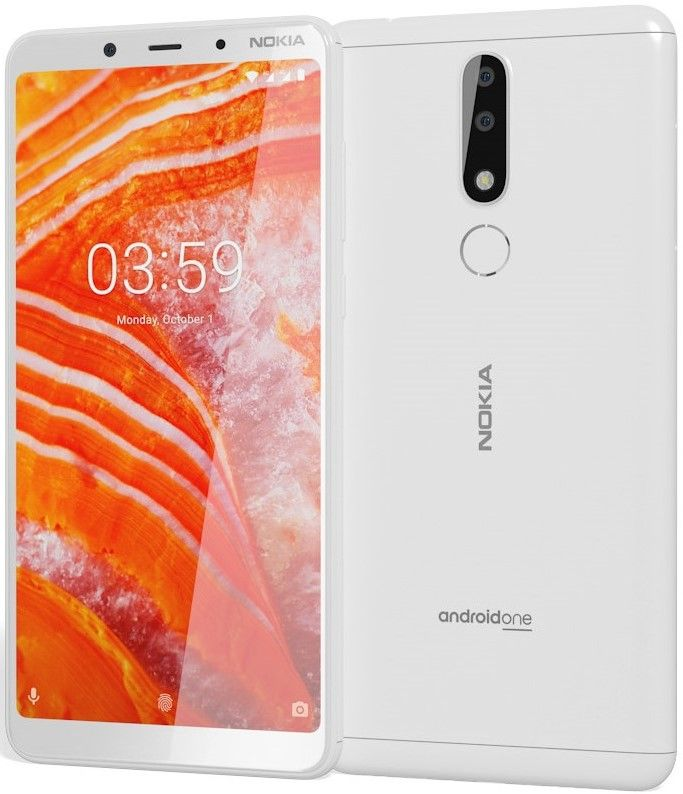 "Смартфон Nokia 3.1 Plus DS - 6"", 16GB, бял - 1"