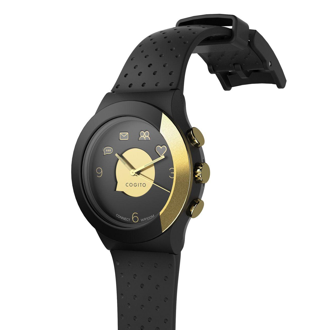 Смарт часовник Cogito Fit - черно/златисто - 2