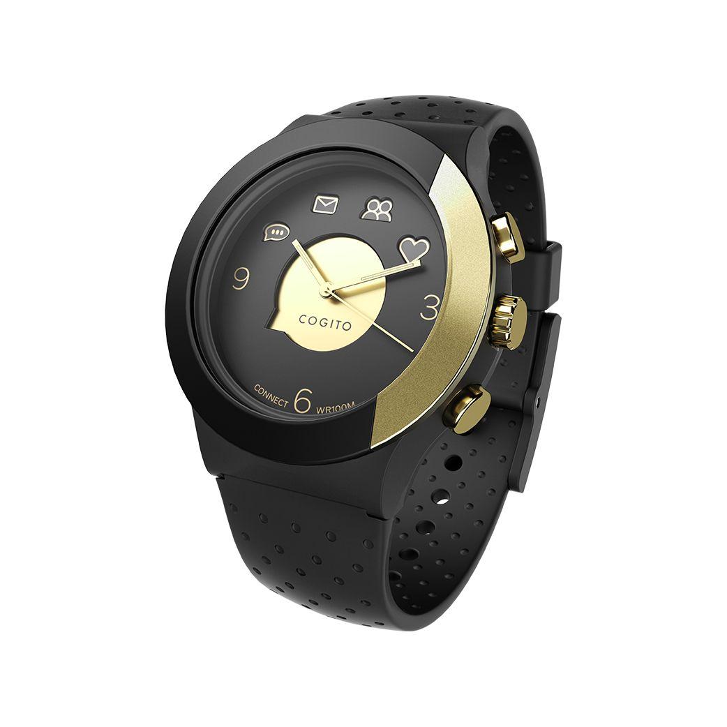 Смарт часовник Cogito Fit - черно/златисто - 1