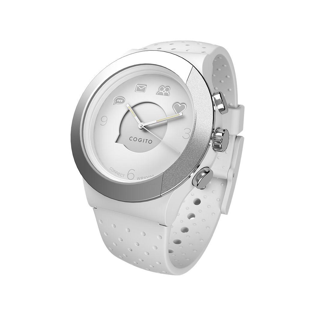 Смарт часовник Cogito Fit - бяло/сиво - 1