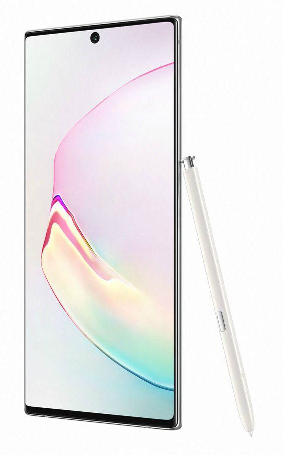 "Смартфон Samsung Galaxy Note 10+, 6.8 "", 256GB, aura white - 1"