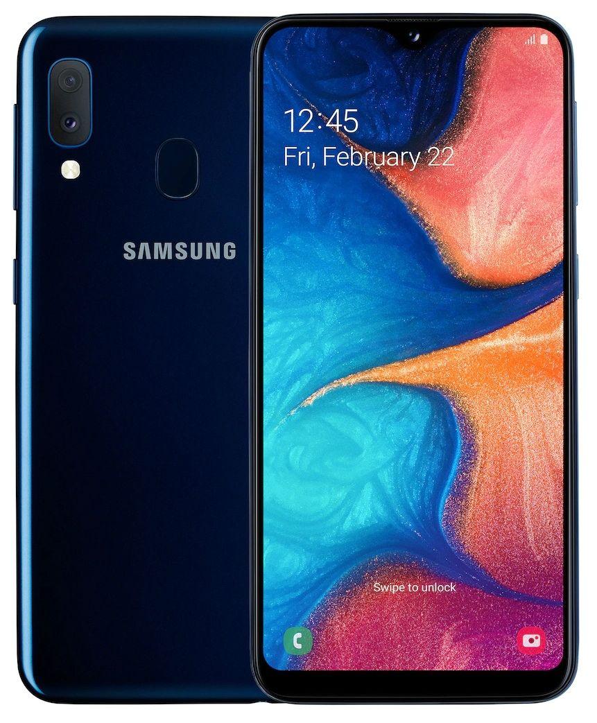 "Смартфон Samsung Galaxy A20e - 5.8"", 32GB, син - 4"