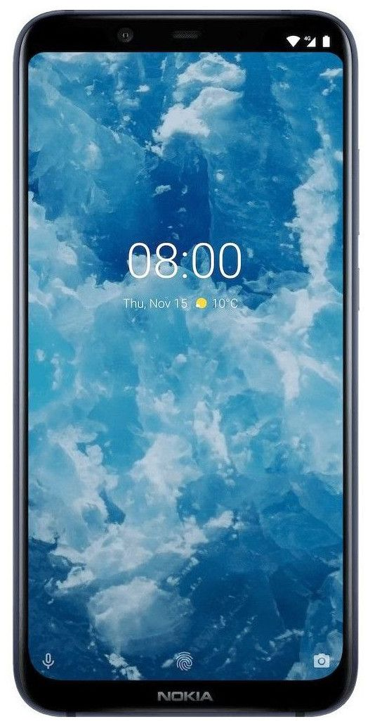 "Смартфон Nokia 8.1 DS - 6.18"", 64GB, син - 1"