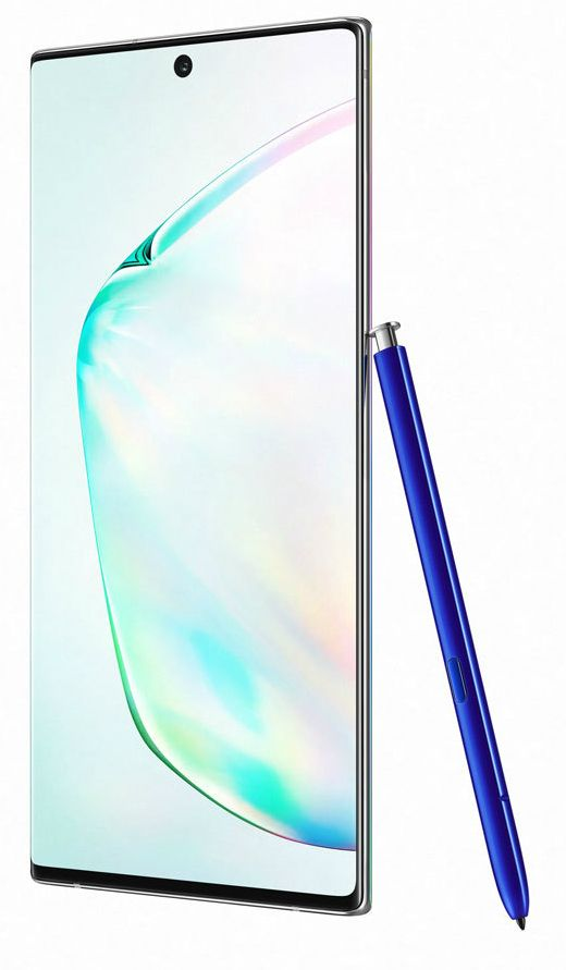 "Смартфон Samsung Galaxy Note 10+, 6.8 "", 256GB, aura glow - 1"