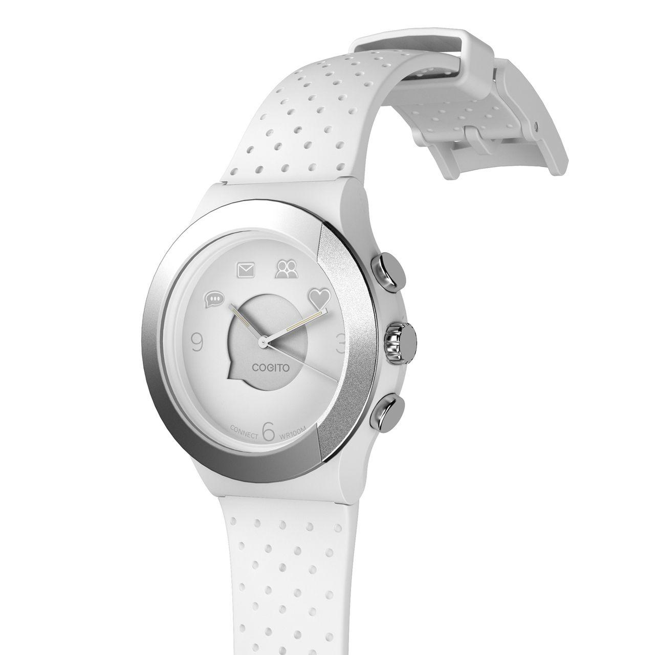 Смарт часовник Cogito Fit - бяло/сиво - 2