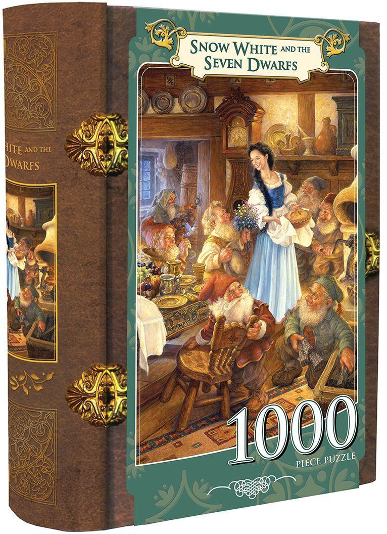 Пъзел в кутия-книга Master Pieces от 1000 части - Снежанка - 1
