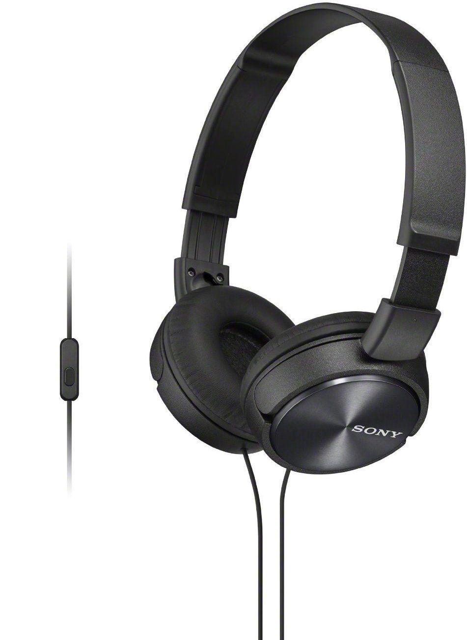 Слушалки с микрофон Sony MDR-ZX310AP - черни - 1
