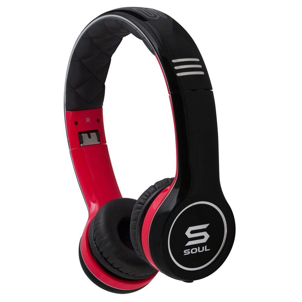 Слушалки Soul SL100 - черни/червени - 1