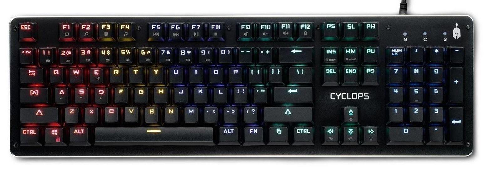 Механична клавиатура Spartan Gear - CYCLOPS WIRED, RGB подсветка, черна - 1