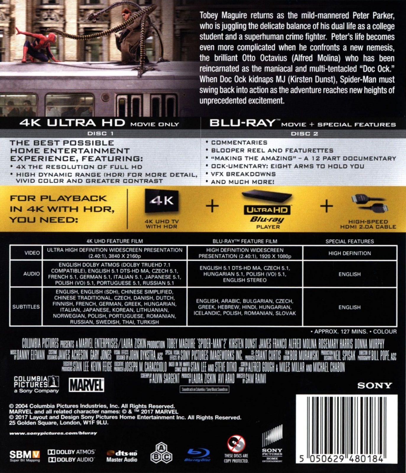 Спайдър-мен 2 (4K UHD Blu-Ray) - 2