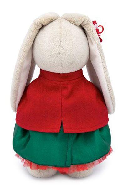 Плюшена играчка Budi Basa - Зайка Ми, със зелена поличка и червено палтенце, 32 cm - 4