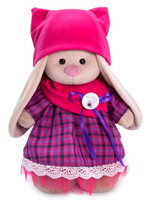 Плюшена играчка Budi Basa - Зайка Ми, с рокличка с яка и шапка, 25 cm - 1
