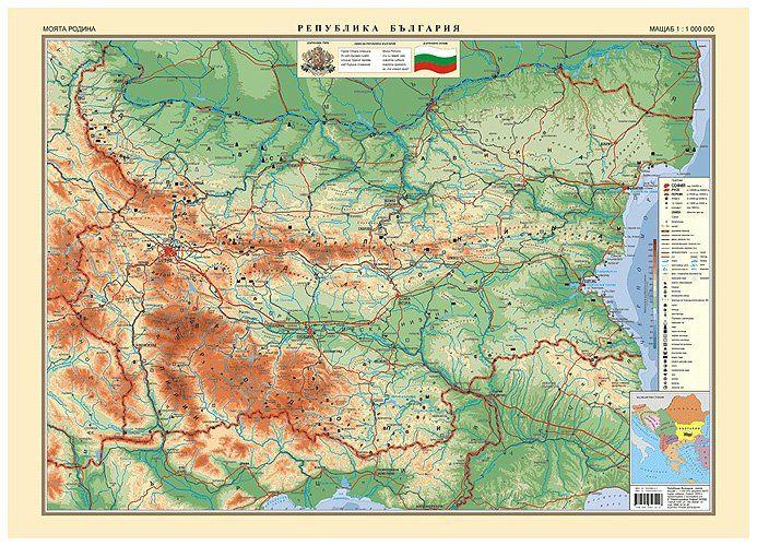 Stenna Karta Na Blgariya Moyata Rodina 1 1 000 000 Ozone Bg