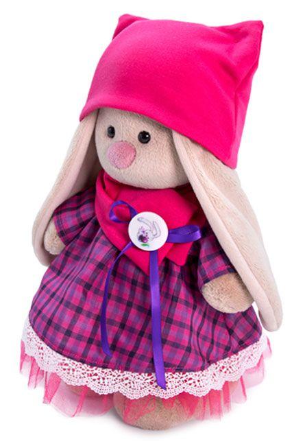 Плюшена играчка Budi Basa - Зайка Ми, с рокличка с яка и шапка, 25 cm - 3