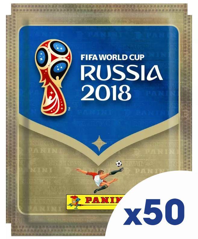 Стикери Panini FIFA World Cup Russia 2018 - комплект с 50 пакета / 250 бр. стикери - 1