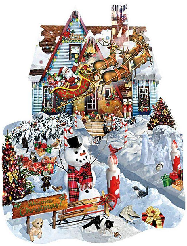 Пъзел SunsOut от 1000 части - Коледа вкъщи, Лори Шори - 1