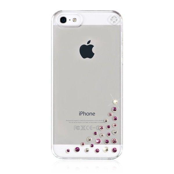 Swarovski Diffusion Pink Mix за iPhone 5 - 1