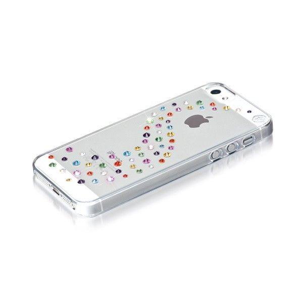 Swarovski Milky Way Cotton Candy за iPhone 5 -  кейс с кристали на Сваровски за iPhone 5 - 3