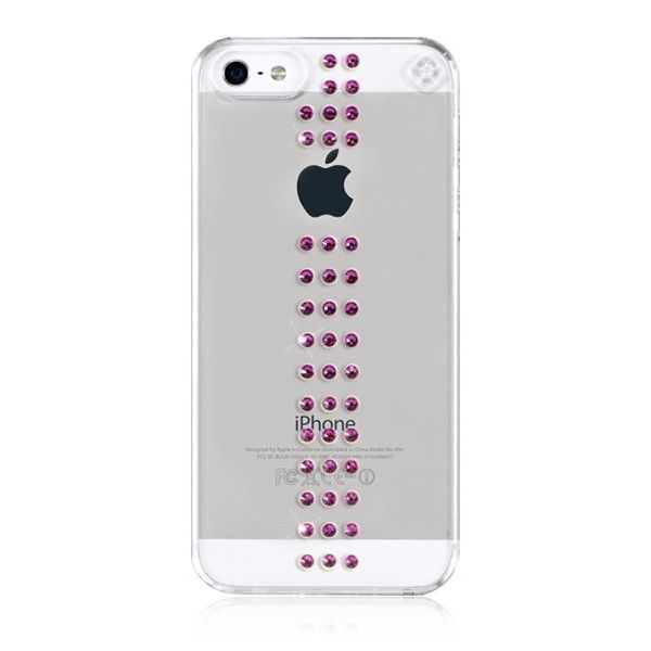 Swarovski Stripe Fuchsia за iPhone 5 - 1