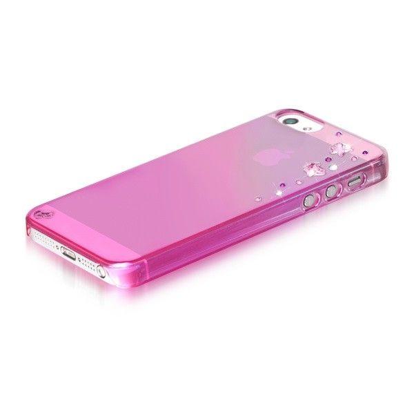 Swarovski Butterflies Mirror за iPhone 5 -  розов - 3
