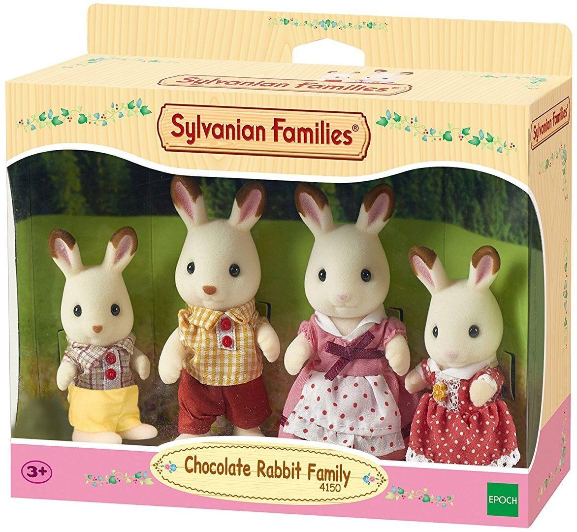 Комплект фигурки Sylvanian Families - Семейство зайчета, Chocolate - 1