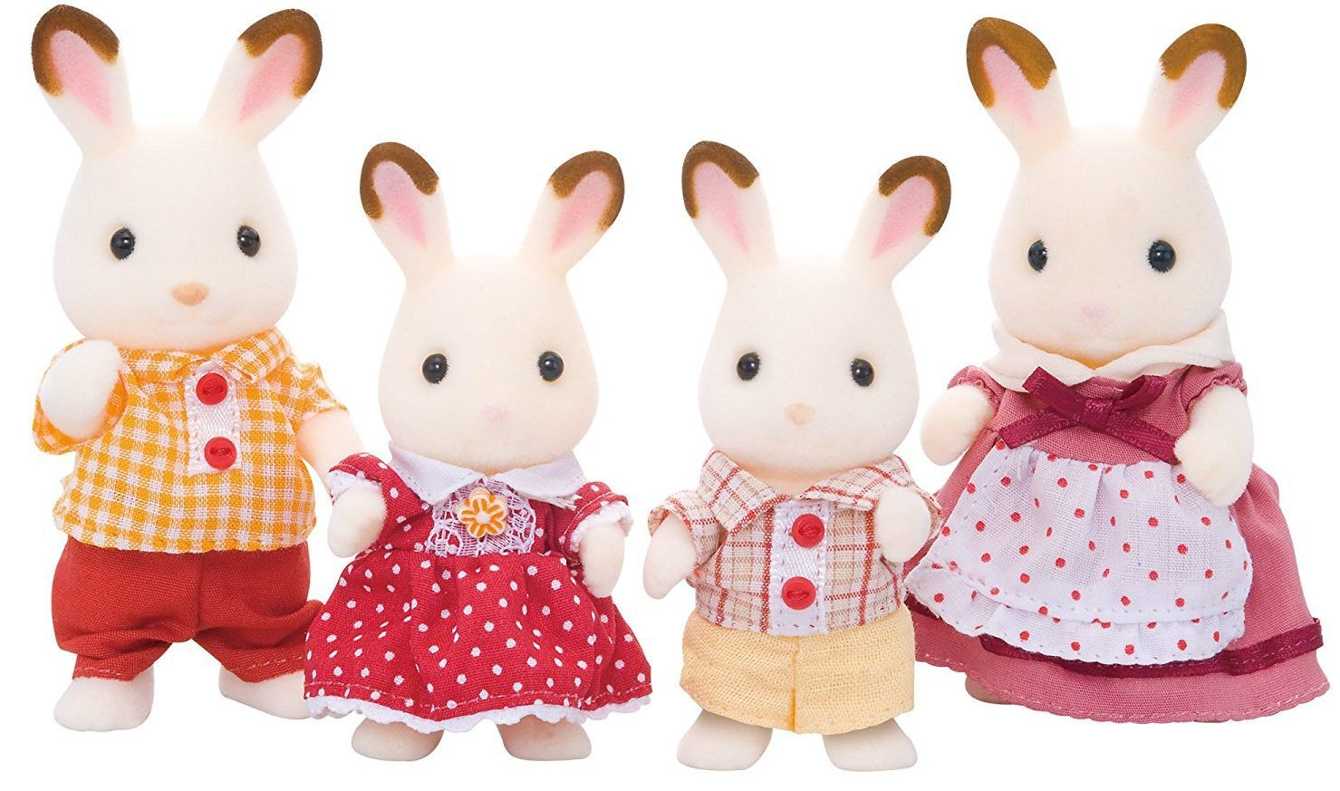 Комплект фигурки Sylvanian Families - Семейство зайчета, Chocolate - 2